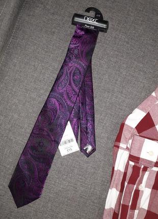 Шелковый галстук в пейсли принт