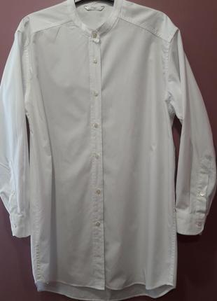 Удлиненная рубашка белого цвета