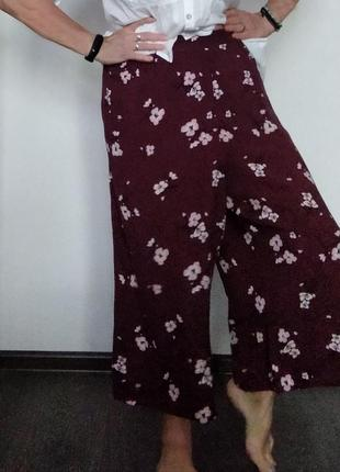 Plus-size! брюки кюлоты из вискозы
