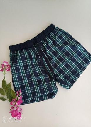 Котоновие домашние пижамние шорти от немецкого бренда livergy, м