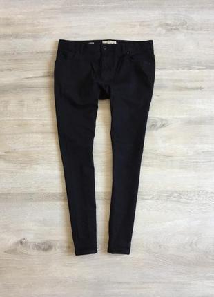 Зауженые чёрные джинсы next