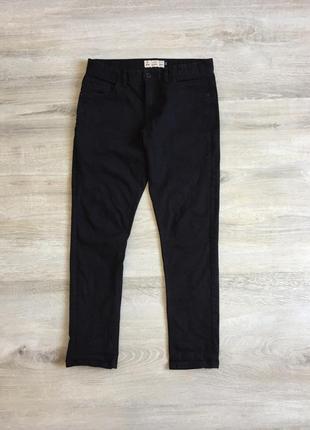 Зауженые чёрные мужские джинсы next
