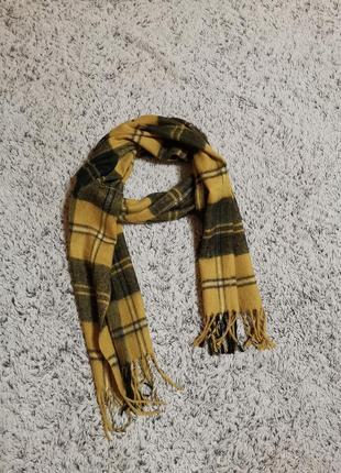 Шарф теплый, в клетку, клетчатый шарф