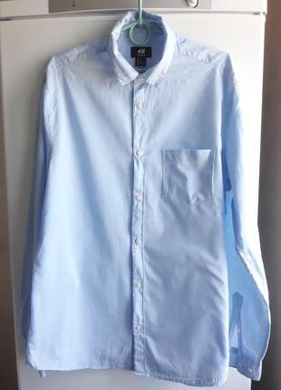 Рубашка мужская хлопковая h&m