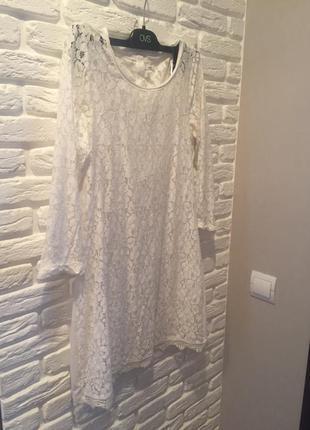 Платье ажурное h&m