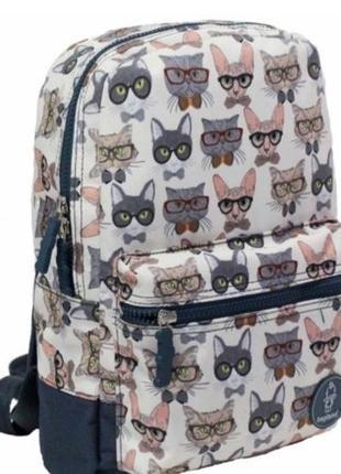 Вместительный рюкзак с котами 🐈 🐱