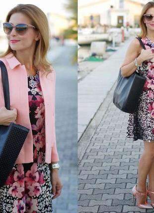 Платье сукня сарафан с цветоцным принтом