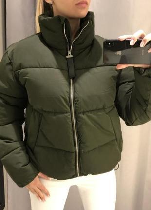 Стильная дутая куртка деми, еврозима