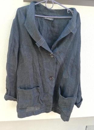 Новый льняный пиджак! лён! красивый стильный пиджак