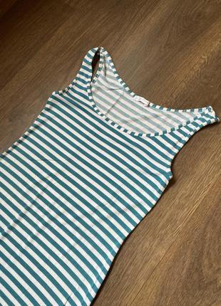 Длинный сарафан в полоску / длинное платье