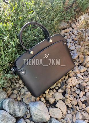 Офисная сумка baliviya 19664 черная с перегородкой