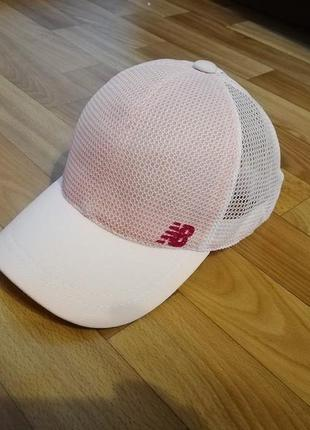 Стильная кепка бейсболка пудра +белый 55-57