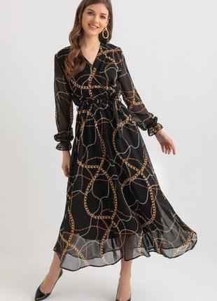 Невероятное платье макси шифон турция р46,48укр