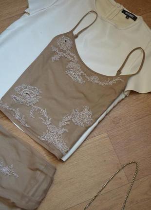 Karen millen костюм двойка юбка и топ бежевый нюдовый оригинал брендовый