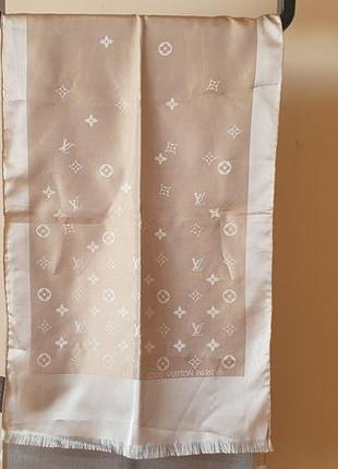 Оригинальный палантин платок шелковый louis vuitton