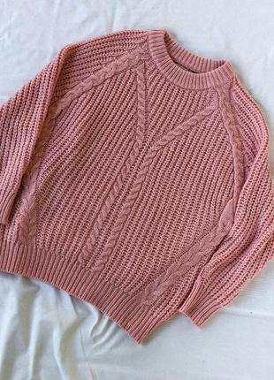 Нежно розовый свитер оверсайз в идеальном состоянии