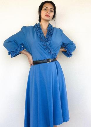 Синее платье 80-х годов
