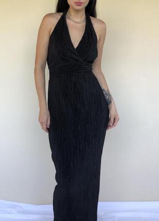 Чёрное вечернее платье невероятной красоты!