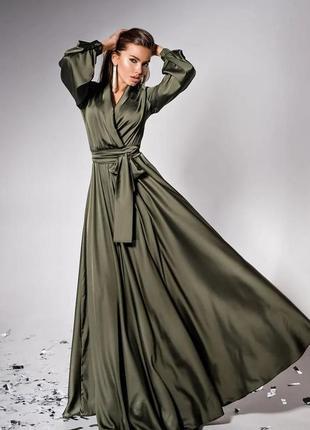 Вечернее шёлковое платье в пол shine))