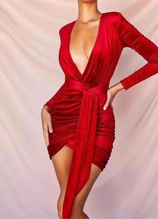 Бархатное мини платье/топ