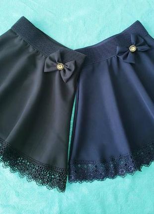 Школьная юбка с кружевом1 фото