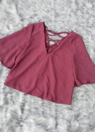 Топ блуза кофточка с v-образным вырезом miss selfridge