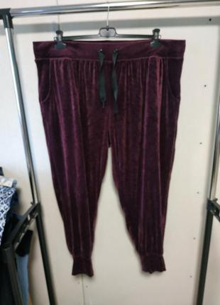 Велюровые спортивные штаны размер xxl 26-28