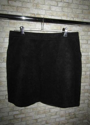Нарядная черная юбка р-р 12 новая от papaya
