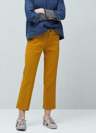 Новые укороченные брюки штаны mango