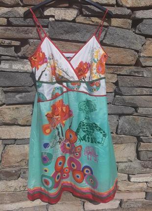 Шикарное вискозовое платье на бретельках