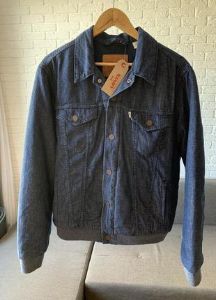 Levis trucker varsity jacket джинсовая куртка