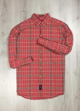 Рубашка gant клетчатая мужская рубашка в клетку гант красная розовая