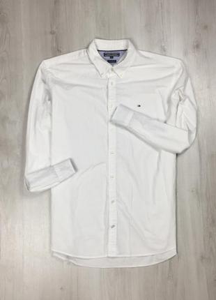 Рубашка tommy hilfiger белая мужская рубашка томми хилфигер