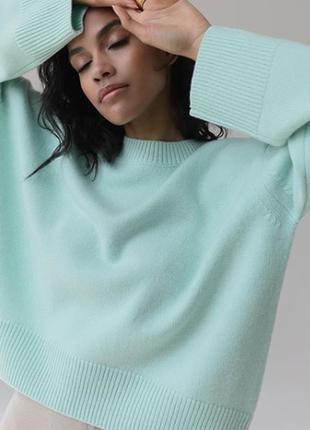 Кашемировый свитер джемпер свободного кроя швейцария 100% кашемир