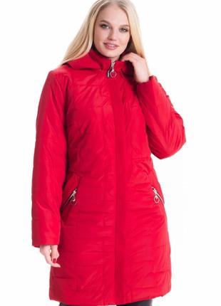 Размер 56-70 стильная демисезонная куртка