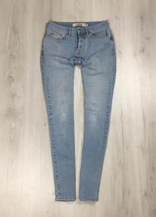 Джинсы зауженные topshop топшот мужские голубые штаны брюки джинсы