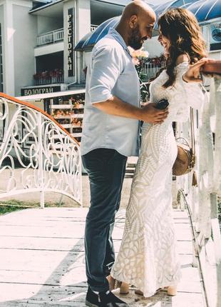 Плаття вечірнє, на розпис, на весілля