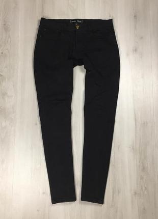 Джинсы зауженные george черные мужские брюки штаны