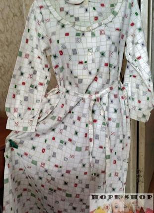 Длинное утеплённое платье ,ночная рубашка,сорочка 46/52