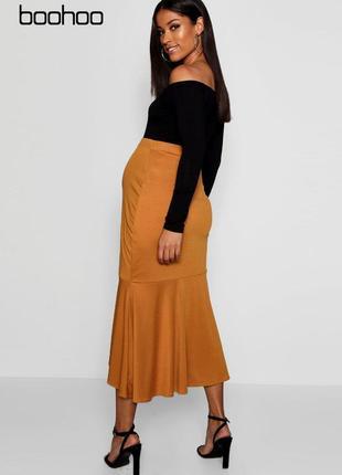 Новая асимметричная миди юбка для беременных boohoo
