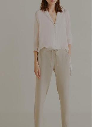Фисташковые брюки джинсы манго