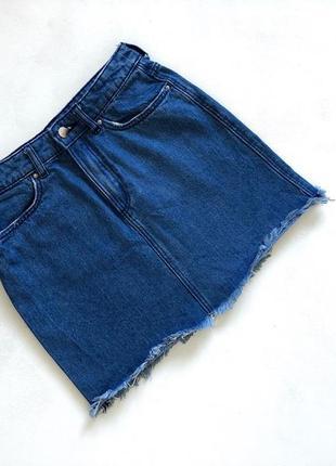 Джнсовая синяя юбка