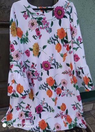 Дуже стильне біле плаття в квіти asos на пишні форми