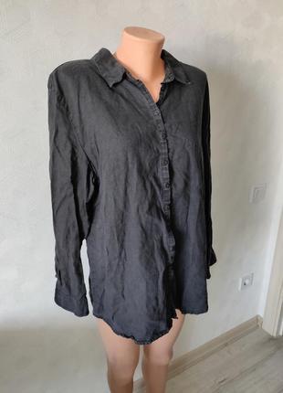 100/ льон🔥🔥блуза/рубашка