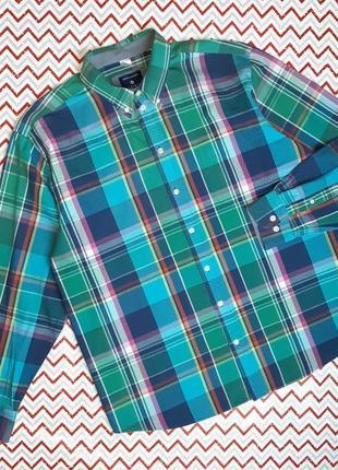 😉1+1=3 фирменная мужская рубашка в клетку babista с длинным рукавом, размер 52 - 54