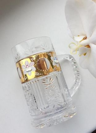 Бокал для пива хрустальный