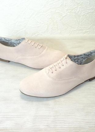 """Замшевые легкие туфли-оксфорды от """"pier one"""", р 40"""