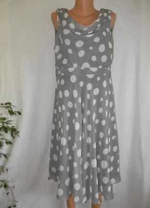 Новое нарядное платье в горошек debut