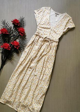 Котоновое платье в цветы asos