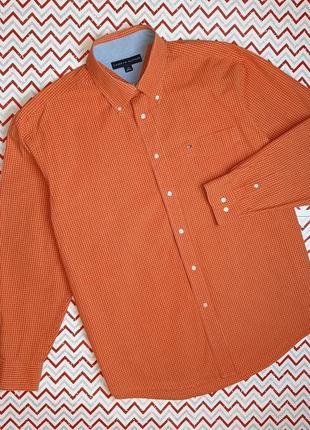 😉1+1=3 фирменная плотная рубашка сорочка с длинным рукавом tommy hilfiger, размер 48 - 50